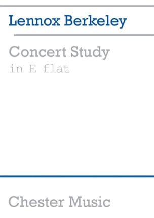Concert Study In E Flat Lennox Berkeley Partition Piano - laflutedepan