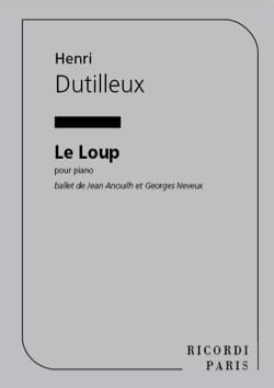 Henri Dutilleux - The wolf - Sheet Music - di-arezzo.com
