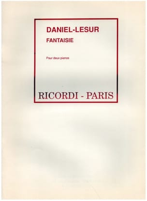 Fantaisie. 2 Pianos - Daniel-Lesur - Partition - laflutedepan.com