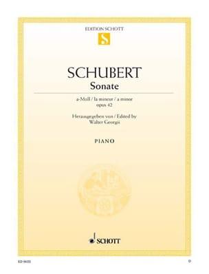 Franz Schubert - Sonate En la Mineur Op. 42. D 845 - Partition - di-arezzo.fr