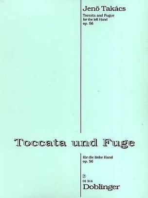 Takacs - Toccata et Fugue Op. 56. Main Gauche - Partition - di-arezzo.fr