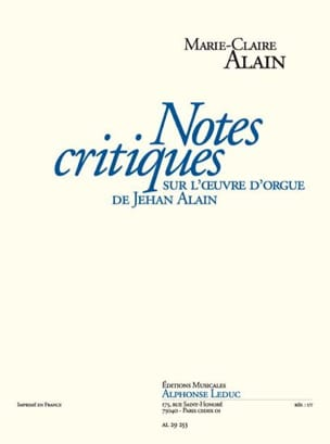 Marie-Claire Alain - Ratings Reviews on Jehan Alain's Organ Work - Sheet Music - di-arezzo.com
