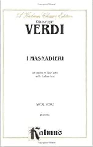 VERDI - I Masnadieri - Sheet Music - di-arezzo.com