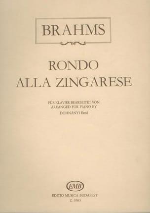 Brahms - Rondo Alla Zingarese - Partition - di-arezzo.fr