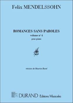 Romances Sans Paroles Volume 4 - MENDELSSOHN - laflutedepan.com