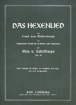 Das Hexenlied Op. 15 - Max Von Schilling - laflutedepan.com