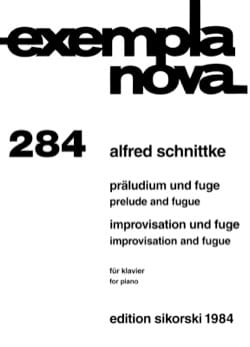 Alfred Schnittke - Prelude and Fugue, Improvisation and Fugue - Sheet Music - di-arezzo.com