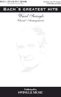 Bach Jean-Sébastien / Swingle - Fugue En Ut Mineur - Partition - di-arezzo.fr