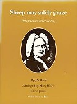 BACH - Sheep May Safely Graze. 2 Pianos - Sheet Music - di-arezzo.co.uk