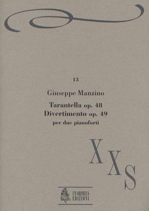 Tarantella Op. 48 et Divertimento Op. 49 - Manzino - laflutedepan.com