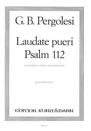 Laudate Pueri PERGOLESE Partition Chœur - laflutedepan