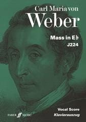 Mass In Eb J224 Carl Maria Von Weber Partition Chœur - laflutedepan