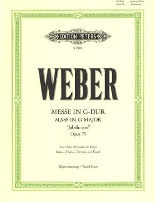 Messe In G Dur Opus 76 - Carl Maria Von Weber - laflutedepan.com