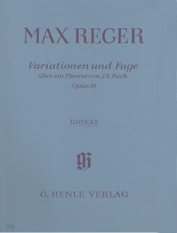 Max Reger - Variations and Fugue Opus 81 - Sheet Music - di-arezzo.com