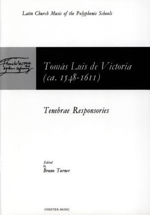Tomas Luis de Victoria - Tenebrae Responsories - Partition - di-arezzo.fr
