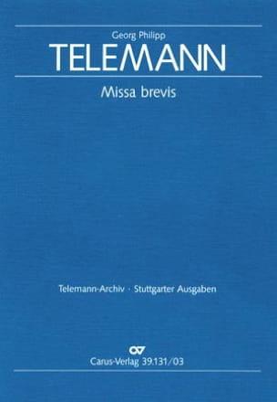 Missa Brevis Tvwv 9-14 TELEMANN Partition Mélodies - laflutedepan
