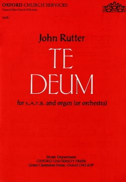 John Rutter - Te Deum - Partition - di-arezzo.fr