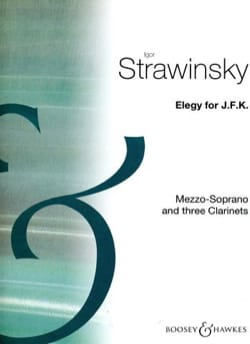 Elegy For J.F.K STRAVINSKY Partition Clarinette - laflutedepan