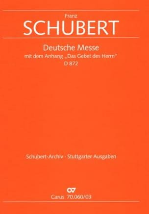 Franz Schubert - Deutsche Messe D 872 - Partition - di-arezzo.fr