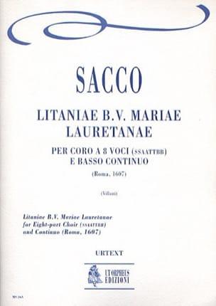 Litaniae Mariae Lauretanae - Sacco - Partition - laflutedepan.com