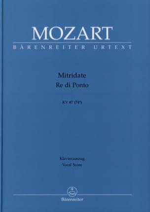 MOZART - Mitridate, Re Di Ponto. Kv 87 74a - Partition - di-arezzo.fr