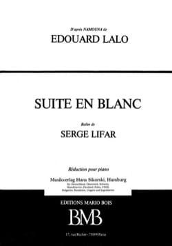 Edouard Lalo - Suite en Blanc - Partition - di-arezzo.fr