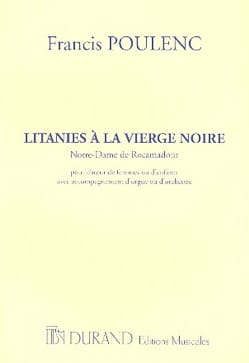 Francis Poulenc - Litanies to the Black Madonna - Choir alone - Sheet Music - di-arezzo.com