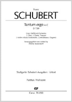 Franz Schubert - Tantum Ergo D 739 In C Ut - Sheet Music - di-arezzo.co.uk