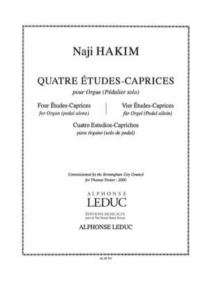 4 Etudes-Caprices - Naji Hakim - Partition - Orgue - laflutedepan.com