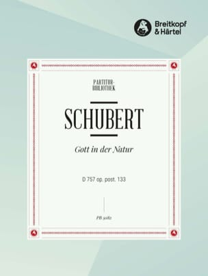 SCHUBERT - Gott In Der Natur - D 757 - Partition - di-arezzo.fr