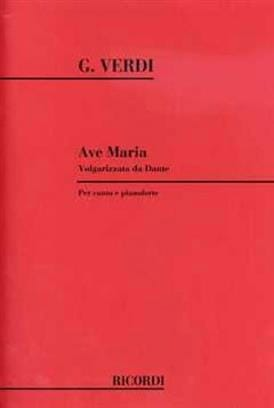 Ave Maria 1880 VERDI Partition Mélodies - laflutedepan
