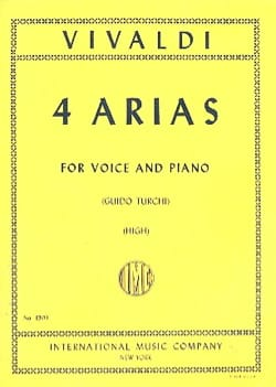 VIVALDI - 4 Arias High Voice - Sheet Music - di-arezzo.co.uk