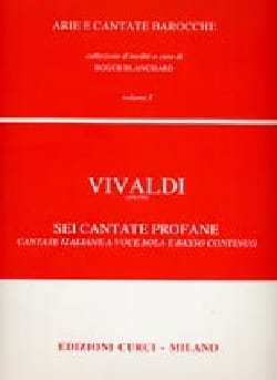 VIVALDI - 6 Cantate Profane Volume 1 - Sheet Music - di-arezzo.co.uk