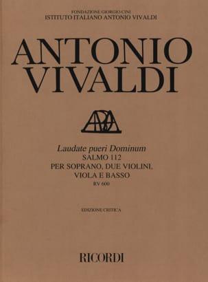 VIVALDI - Laudate Pueri Dominum RV 600 - Sheet Music - di-arezzo.co.uk
