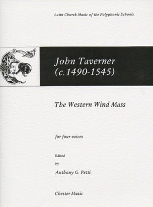 John Taverner - The Western Wind Mass - Partition - di-arezzo.fr