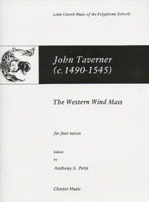 The Western Wind Mass John Taverner Partition Chœur - laflutedepan