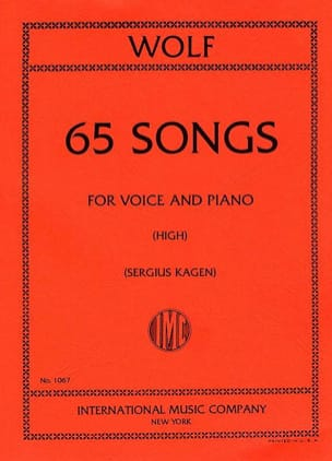 65 Songs. Voix Haute - Hugo Wolf - Partition - laflutedepan.com