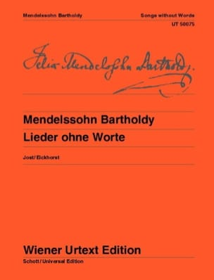 MENDELSSOHN - Lieder Ohne Worte - Sheet Music - di-arezzo.co.uk