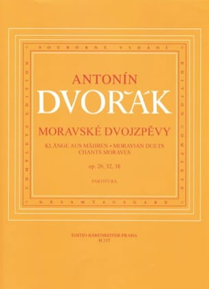 Anton Dvorak - Chants Moraves - Partition - di-arezzo.fr