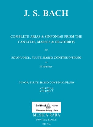 Complete arias and sinfonias from the cantatas, masses, oratorios Volume 6 - laflutedepan.com
