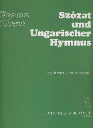 Liszt - Szozat Und Ungarischer Hymnus - Partition - di-arezzo.fr