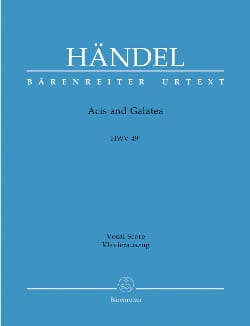 Acis And Galatea. HWV 49a 1ère version HAENDEL Partition laflutedepan