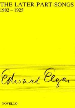 ELGAR - The Later Part-Songs - Sheet Music - di-arezzo.com