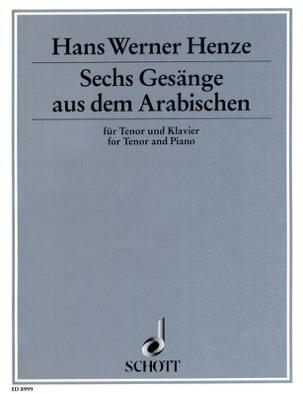 6 Gesänge Aus Dem Arabischen - Hans Werner Henze - laflutedepan.com
