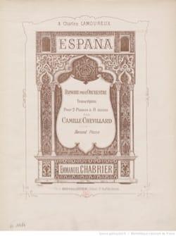 Emmanuel Chabrier - España. 2 Pianos 8 Hands. - Sheet Music - di-arezzo.co.uk