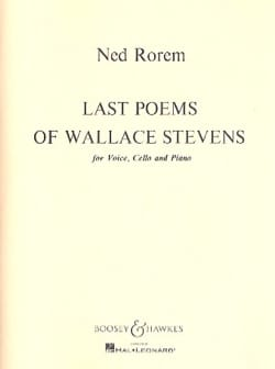 Ned Rorem - Last Poems Of Wallace Stevens - Partition - di-arezzo.fr