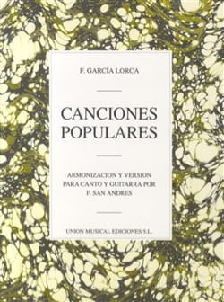Lorca Federico Garcia - 9 Canciones Populares - Partition - di-arezzo.fr