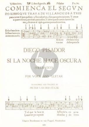 Si la Noche Hace Oscura - Diego Pisador - Partition - laflutedepan.com