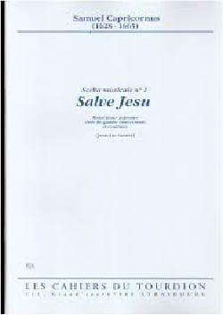 Samuel Capricornus - Salve Jesu - Partition - di-arezzo.fr