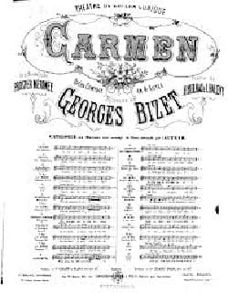 Mêlons, Coupons. Carmen BIZET Partition Opéras - laflutedepan